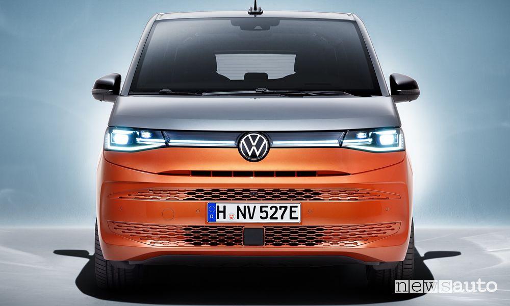 Frontale nuovo Volkswagen Multivan Bulli