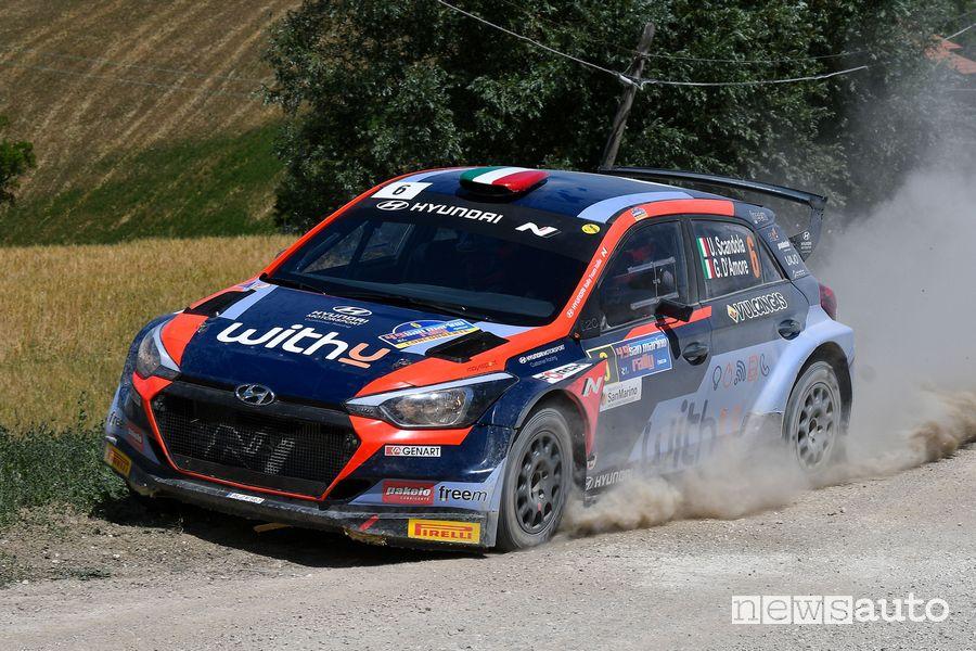 Umberto Scandola vince il Rally di San Marino 2021 su Hyundai I20 NG R5