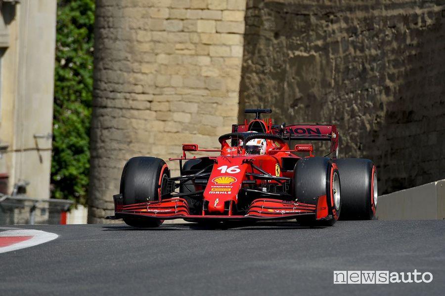 Qualifiche GP Azerbaigian 2021 Ferrari Leclerc