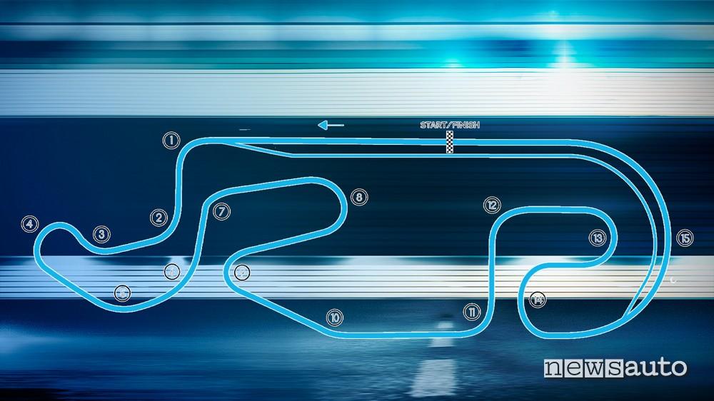 orari eprix messico formula E layout autodromo Miguel E. Abed