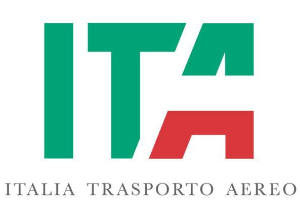 logo di ITA (ex Alitalia) Italia Trasporto Aereo