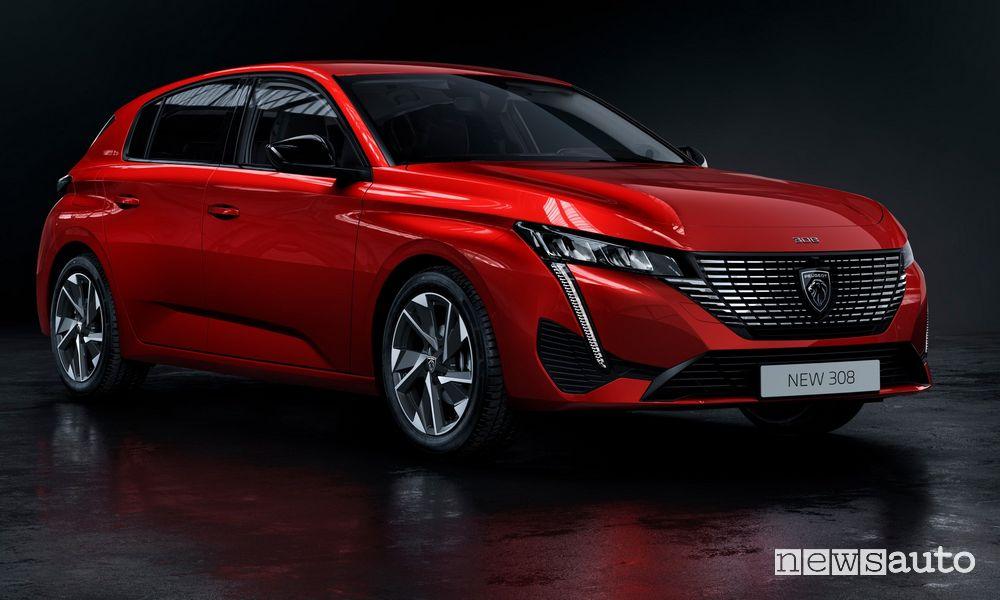 Peugeot 308 motori benzina, diesel e ibridi plug-in
