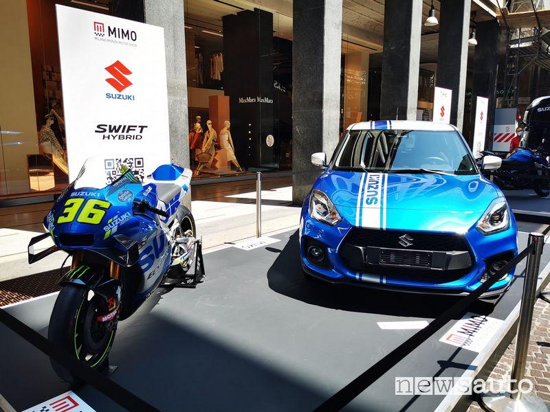 Suzuki Swift Sport Hybrid e la GSX-RR MotoGP al MIMO