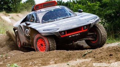 Audi RS Q e-tron in azione in vista della Dakar 2021
