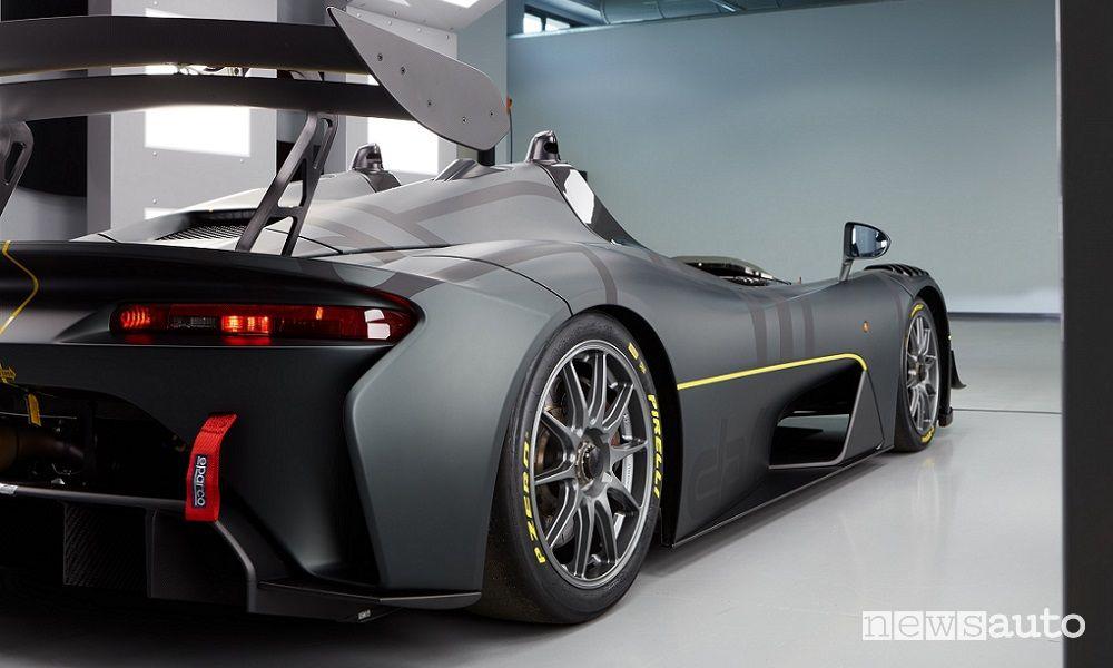 Vista posteriore Dallara EXP