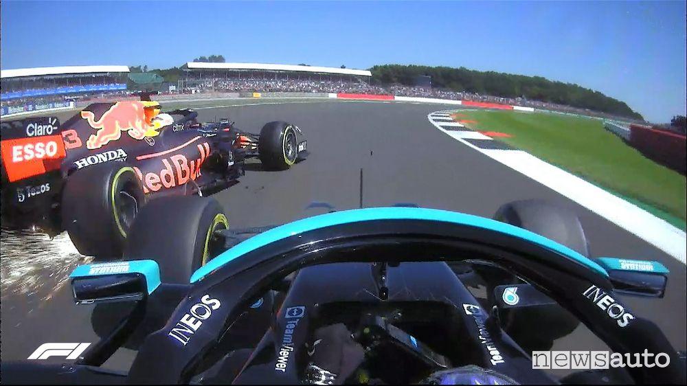 F1 2021 Gp Gran Bretagna incidente Verstappen-Hamilton