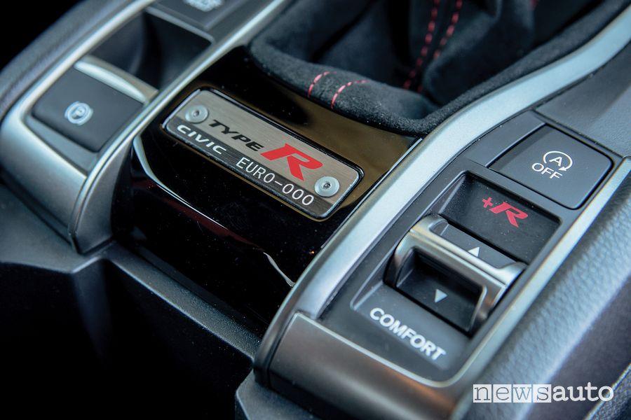 Modalità di guida Honda Civic Type R Limited Edition