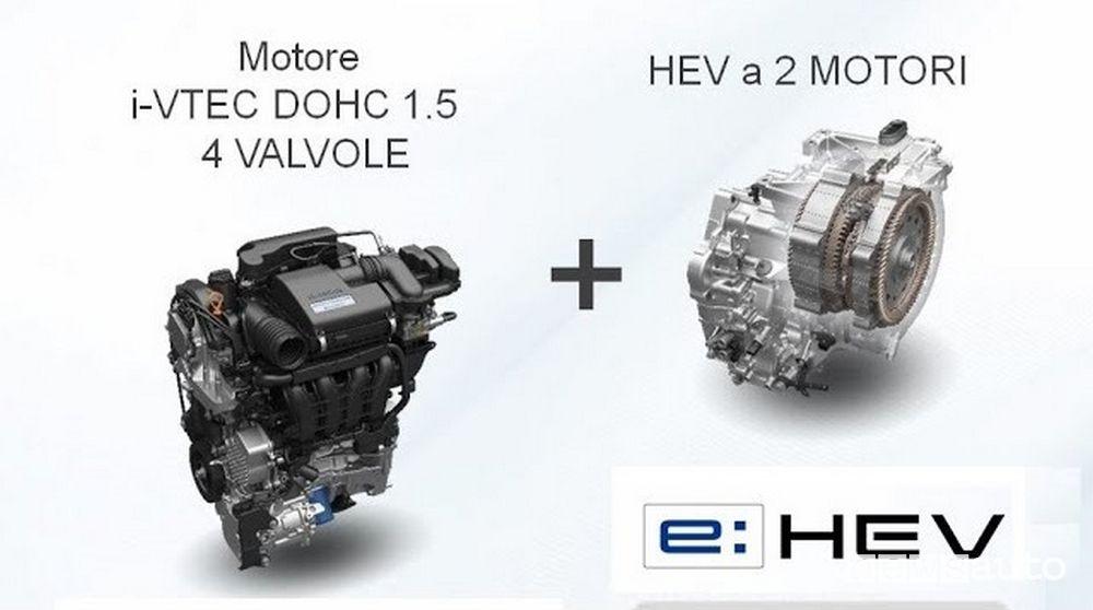 Sistema ibrido Honda e:HEV con due motori elettrici
