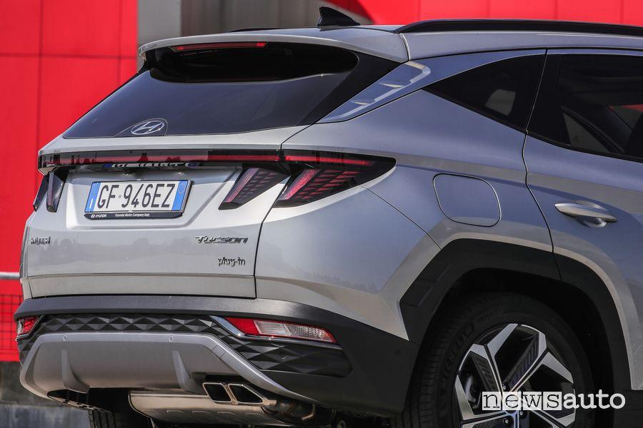 Paraurti posteriore nuova Hyundai Tucson Plug-in Hybrid