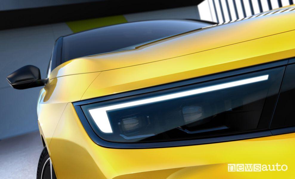Faro anteriore nuova Opel Astra