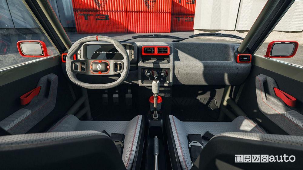 Abitacolo Renault R5 Turbo 3 restomod