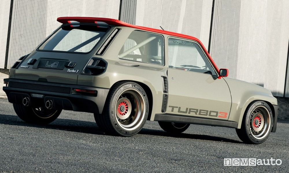 Vista posteriore Renault R5 Turbo 3 restomod