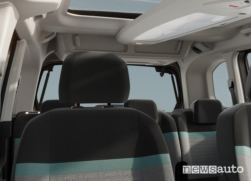 Tetto panoramico Citroën ë-Berlingo elettrico