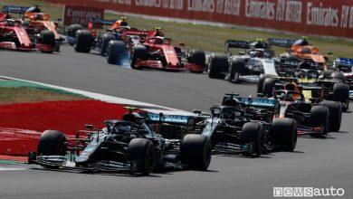 Orari Gp Gran Bretagna F1 2020, diretta SKY e differita TV8