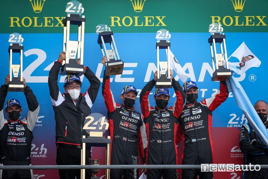 Podio finale della 24 Ore di Le Mans 2021