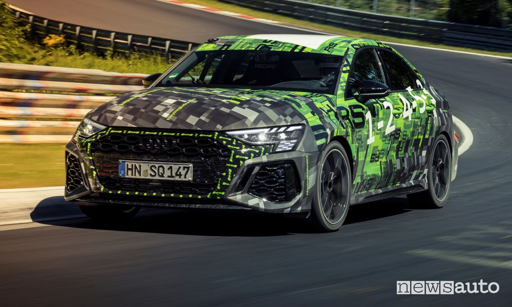 Nuova Audi RS 3 al Nürburgring