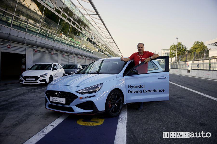 Giovanni Mancini con la Hyundai i30 N Performance a Monza