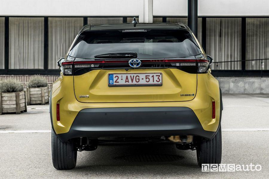 Posteriore nuova Toyota Yaris Cross Elegance