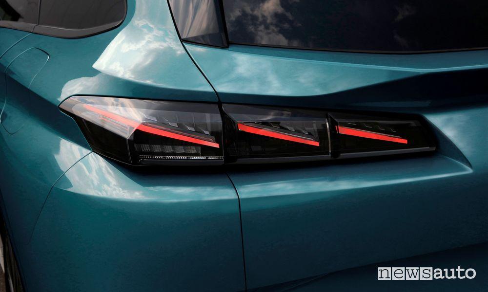 Fari full LED posteriori nuova Peugeot 308 SW
