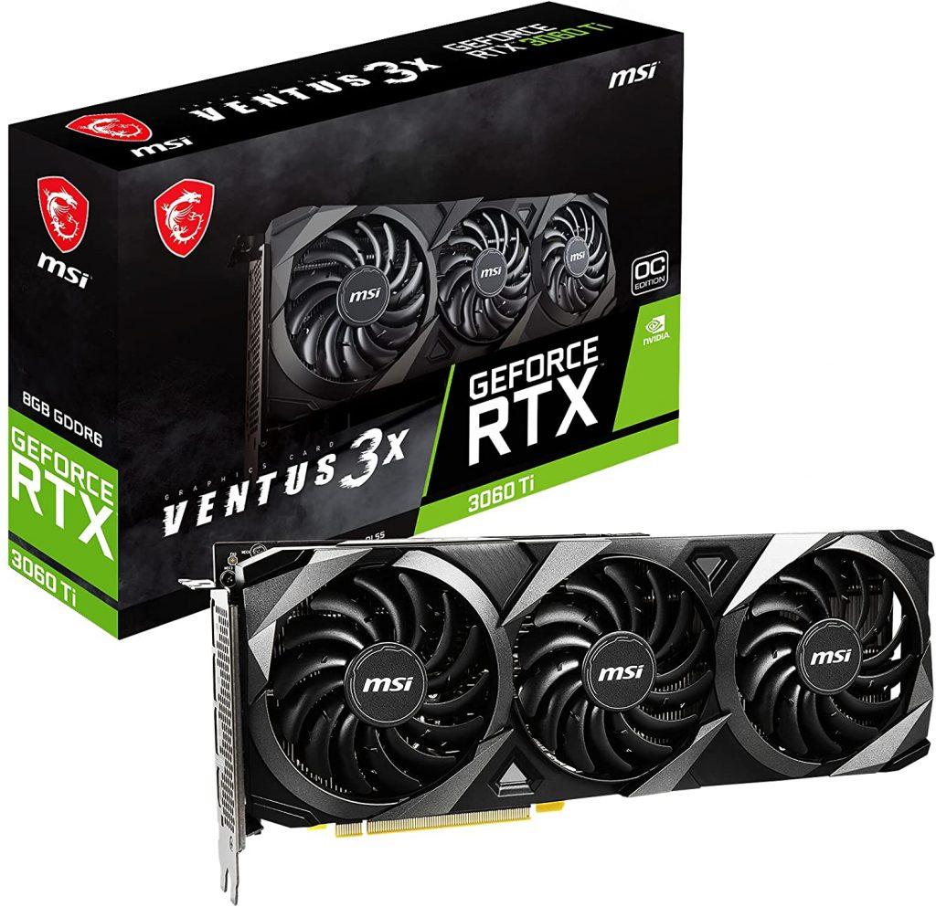 scheda video ad alte prestazioni,  NVIDIA GeForce RTX 3060 Ti su AMAZON) con la crisi dei chip non si trovano