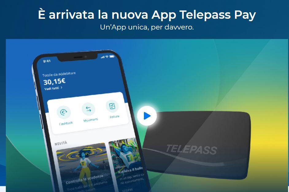 APP Telepass PAY per ricaricare l'auto elettrica gratuitamente fino a fine 2021