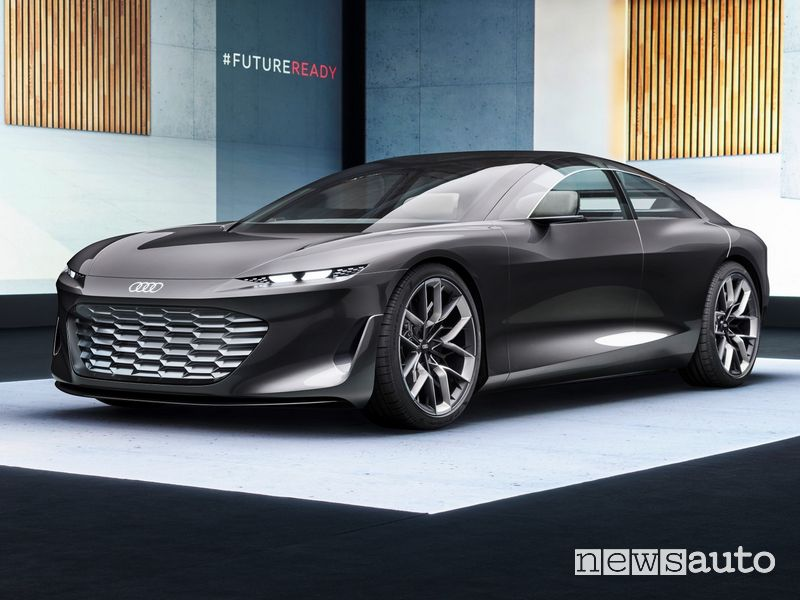 Vista di profilo Audi grandsphere concept