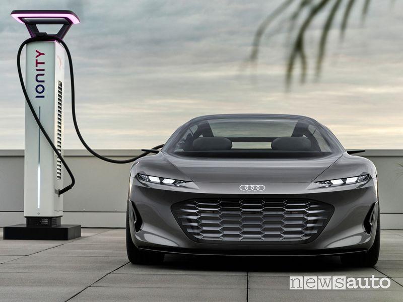 Audi grandsphere concept in ricarica rapida Ionity