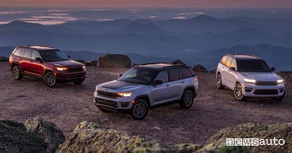 Nuova Jeep Grand Cherokee Trailhawk 4xe e Summit Reserve 4xe