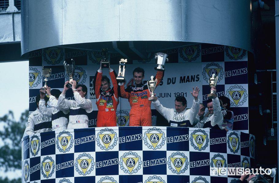 Podio 24 Ore di Le Mans 1991