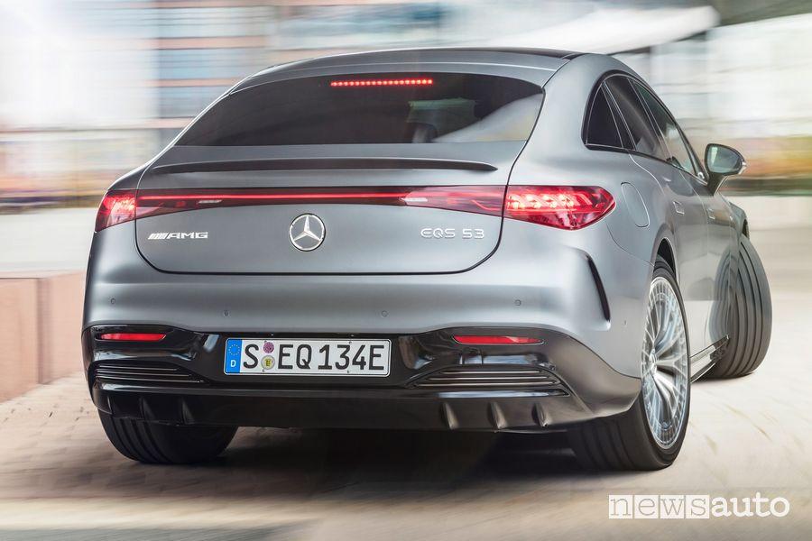 Asse posteriore sterzante Mercedes-AMG EQS 53 4MATIC+ elettrica