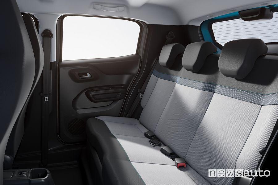 Sedili posteriori abitacolo nuova Citroën C3 Brasile
