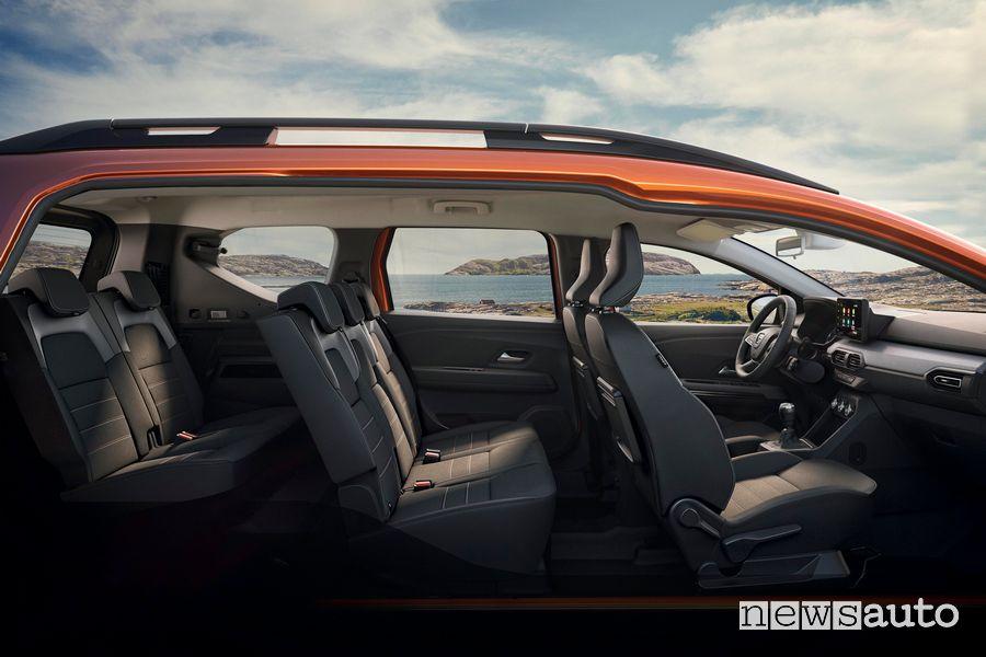 Abitacolo nuovo Dacia Jogger 7 posti