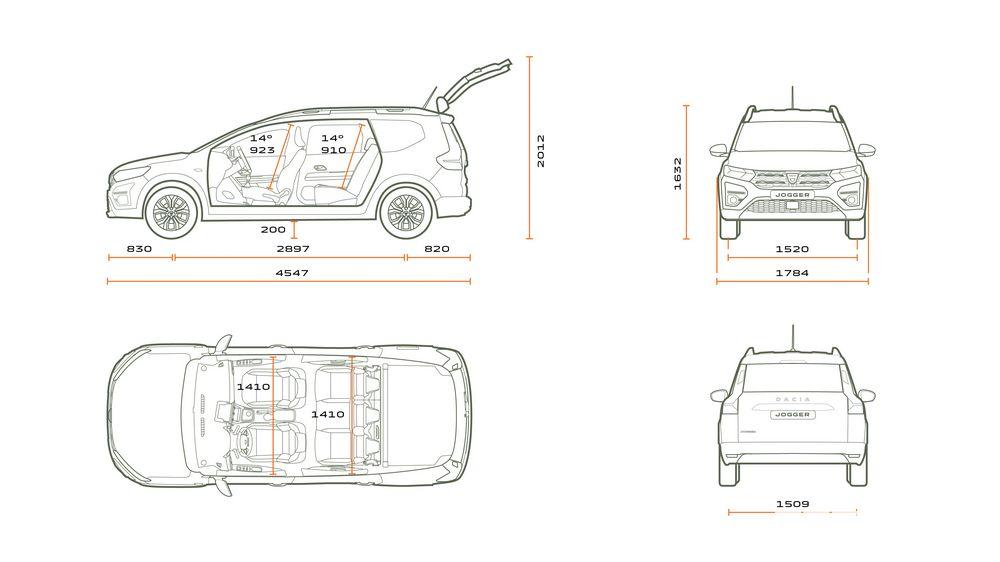 Dimensioni nuovo Dacia Jogger