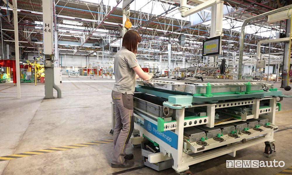 Assemblaggio batteria Renault Mégane E-Tech Electric a Douai