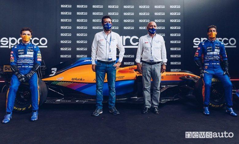 Sparco celebra 25 anno di collaborazione con McLaren nella sede di Volpiano