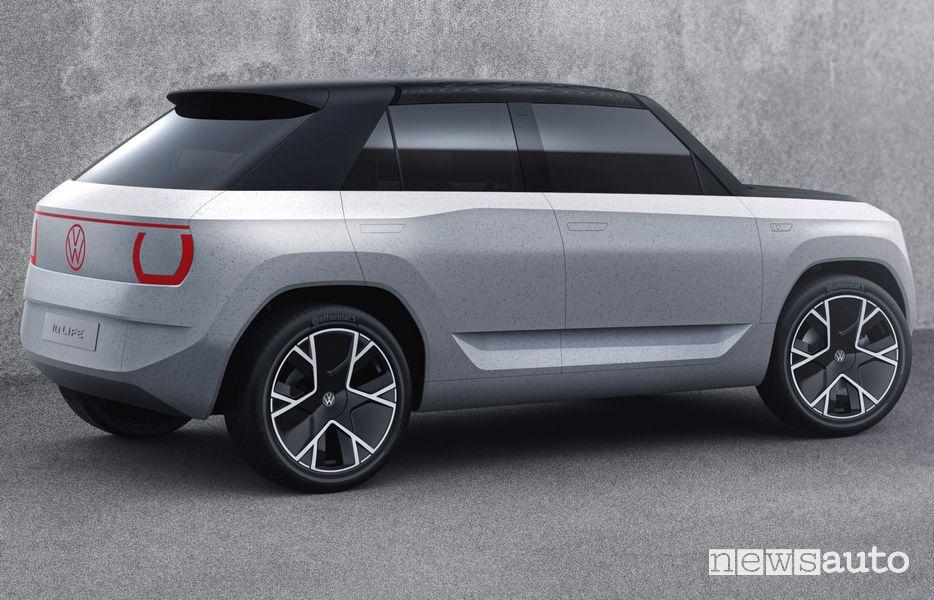 Vista posteriore Volkswagen ID.LIFE concept car