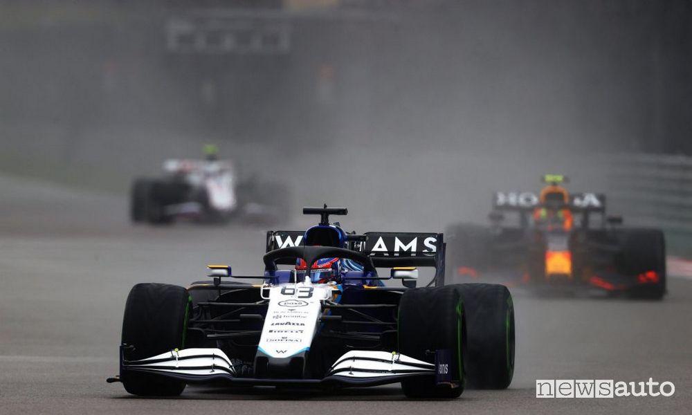 Geoge Russel qualifiche griglia di partenza Gp di Russia F1