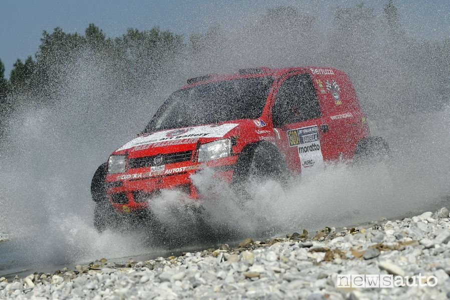 Panda 4x4 in versione Dakar di Gabriele Seno all'Italian Baja 2021