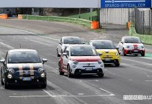 Abarth 595 Turismo K-Hertz Selezione Italia Hertz in pista a Vallelunga