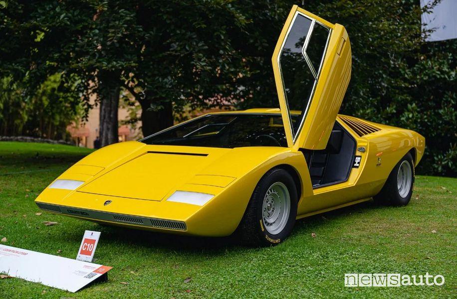 Il concept Lamborghini Countach LP 500 esposto al Concorso d'Eleganza di Villa d'Este 2021