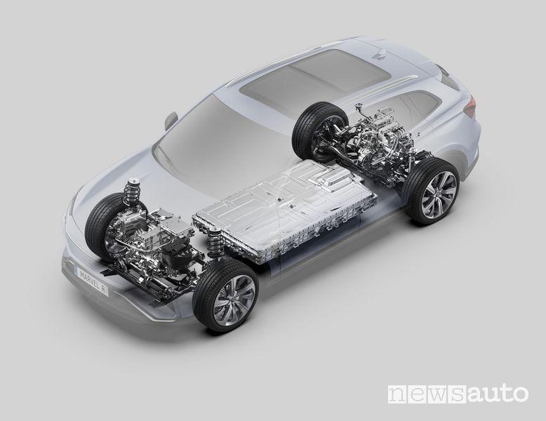 Batteria al litio nuova MG Marvel R Electric