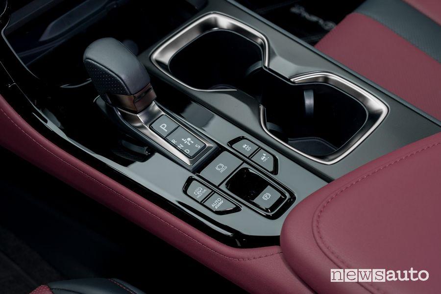 Comandi console centrale abitacolo nuova Lexus NX 450h+