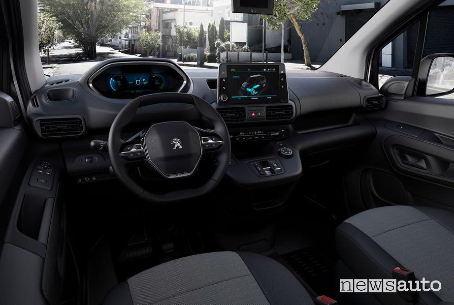 Abitacolo i-Cockpit Peugeot e-Partner furgone elettrico