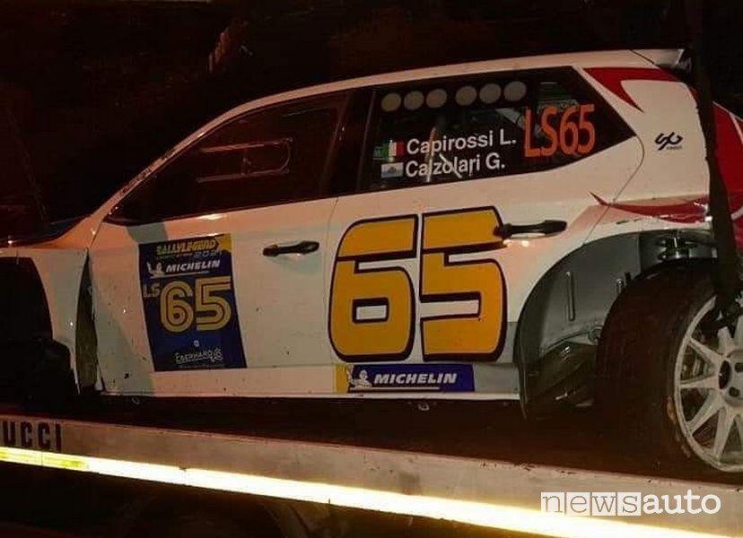 Incidente Skoda Fabia di Capirossi al Rallylegend 2021