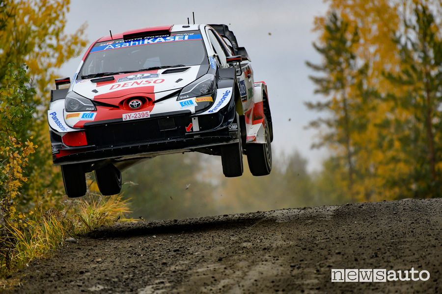 Elfyn Evans won the Rally of Finland behind the wheel of the Toyota Yaris WRC